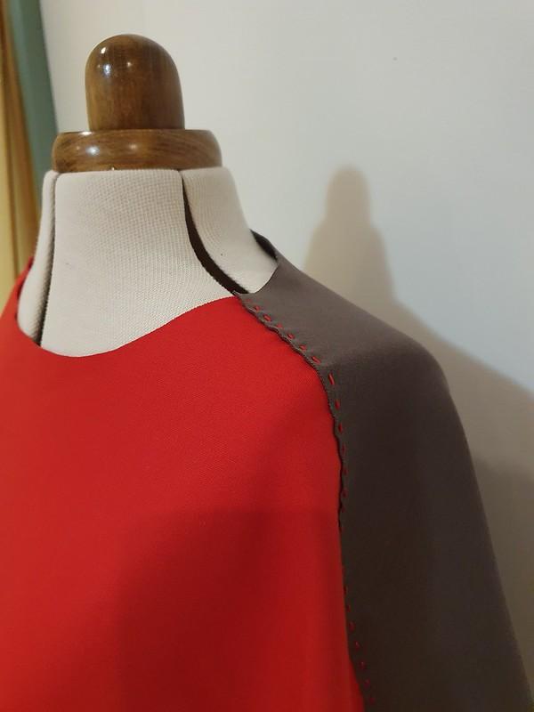 Tessuti Patterns Amara vest in ponte - hand stitched