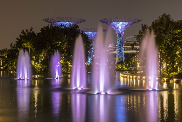 Gardens by the Bay and Dragonfly Lake Fountains