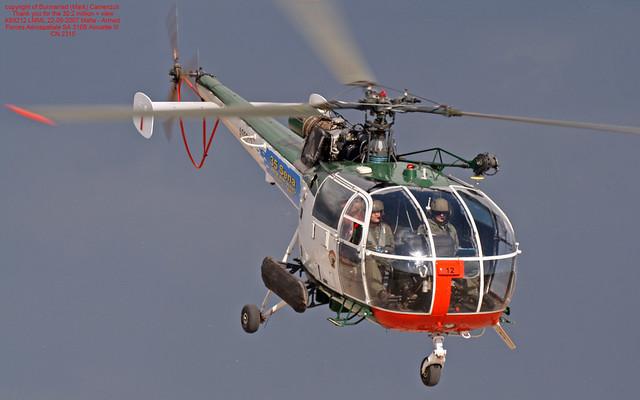 AS9212 LMML 22-09-2007 Malta - Armed Forces Aérospatiale SA 316B Alouette III CN 2315