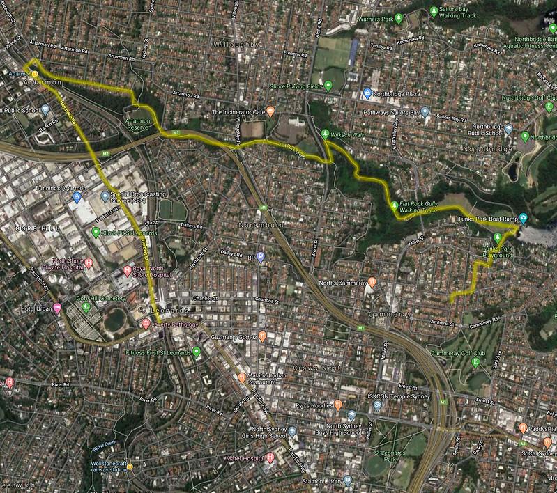 Map of Flat Rock Gully Walk