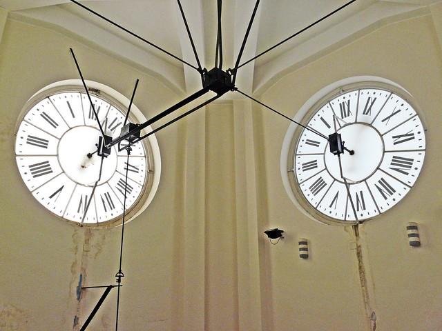 Italie, la Sicile la ville de Messine, l'Horloge intérieur du Campanile