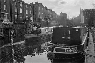 Regents Canal, Gloucester Ave, Primrose Hill, Camden, 1987 87-1c-22_2400