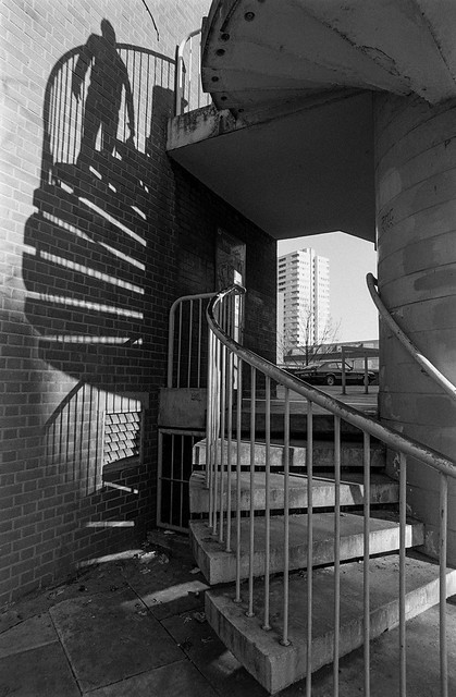 Stairs, Malden Rd, Gospel Oak, Camden, 1987 87-1b-52_2400