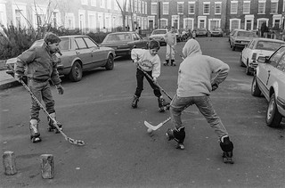 Hockey, St Leonard's Square, Kentish Town, Camden, 1987 87-1i-46_2400