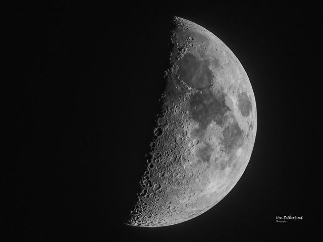 Waxing crescent moon, 6/27/2020