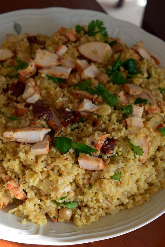 salade de boulghour au poulet harissa