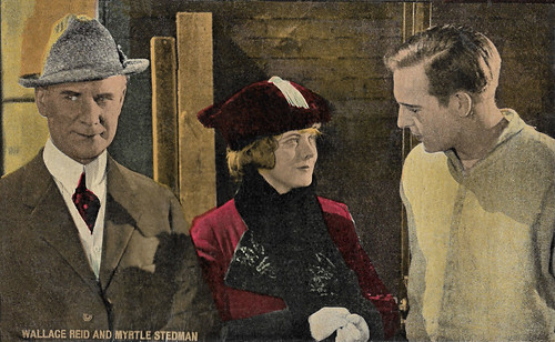 Wallace Reid and Myrtle Stedman in The Prison Without Walls (1917)