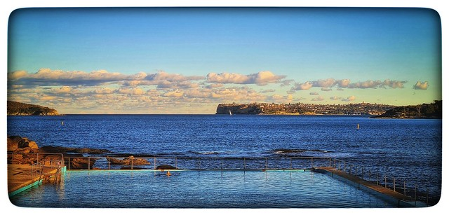 Tidal rock-pool at Fairlight, Sydney harbour