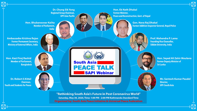 Nepal-2020-05-30-South Asia Hosts First 'Peace Talks' Webinar