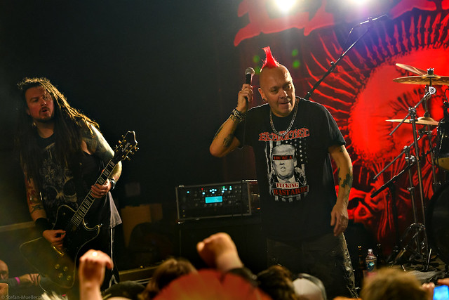 Wattie doing the mic check | The Exploited