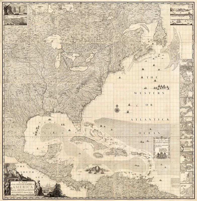 Incredibly detailed map of America from 1733