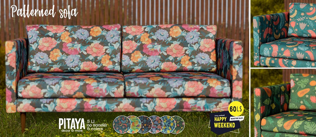 Pitaya – Patterned sofa – Happy Weekend