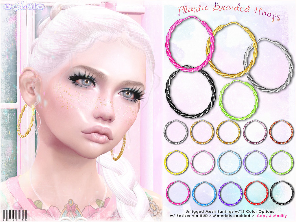 [ bubble ] Plastic Braided Hoops