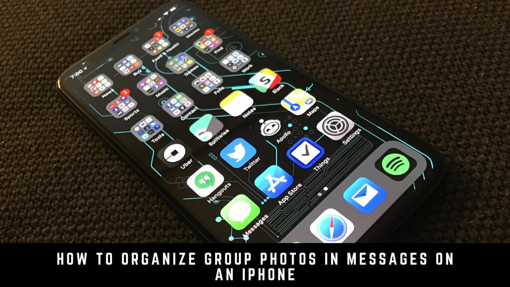 How to Organize Group Photos in Messages on an iPhone