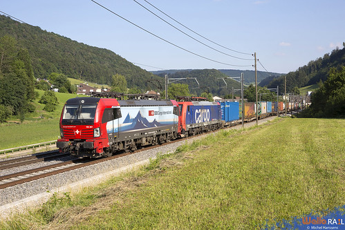 193 467 + Re 474 014 . SBB Cargo . Tecknau . 25.06.20.