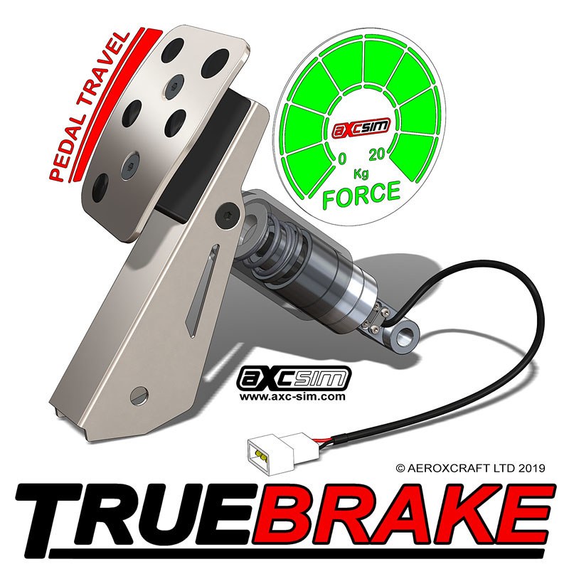 AXC Sim TrueBrake Logitech Brake Pedal Mod