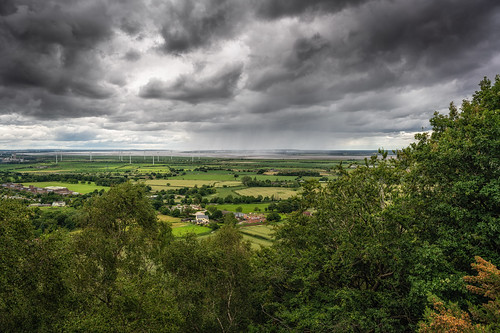 frodsham hill view sandstone trails trail cheshire merseyside storm clouds rain summer