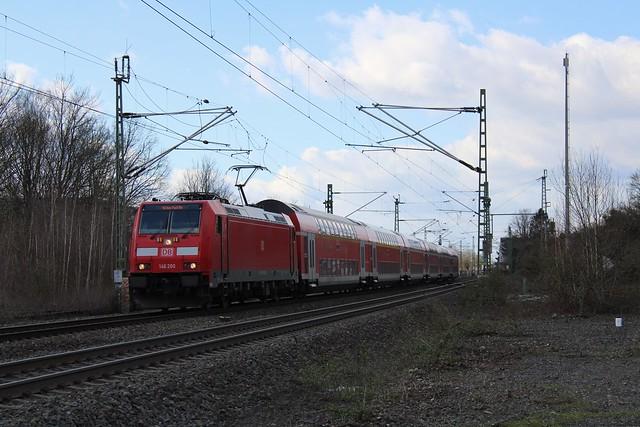 DB 146 260 zieht RE 1 in Wattenscheid nach Hamm (Westf) Hbf