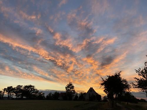 evening house sunset sundown