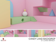 NEW! Candy Land Backdrop @ Bad Unicorn Mainstore (ONLY 75L)