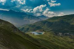 Green eye. The Fallbodensee and the Schilthorn region . Berner Oberland , Switzerland. No. 7828.