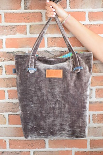 Plush Velvet Tote | by Just Jude Designs