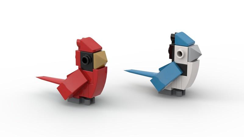 Cardinal and Bluejay