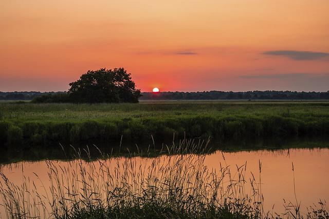 Sonnenuntergang an der Wümme