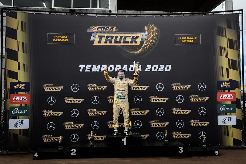 27/06/2020 - Wellington Cirino vence etapa 1 na retomada da Copa Truck em Cascavel - Fotos: Duda Bairros e Vanderley Soares