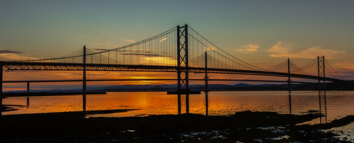 forthroadbridge bridge riverforth queensferrycrossing scotland sunset longexposure