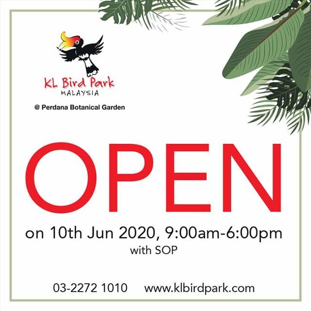 KL Bird Park Tawar Promosi Tiket Masuk Serendah RM6 Sehingga 31 Julai 2020