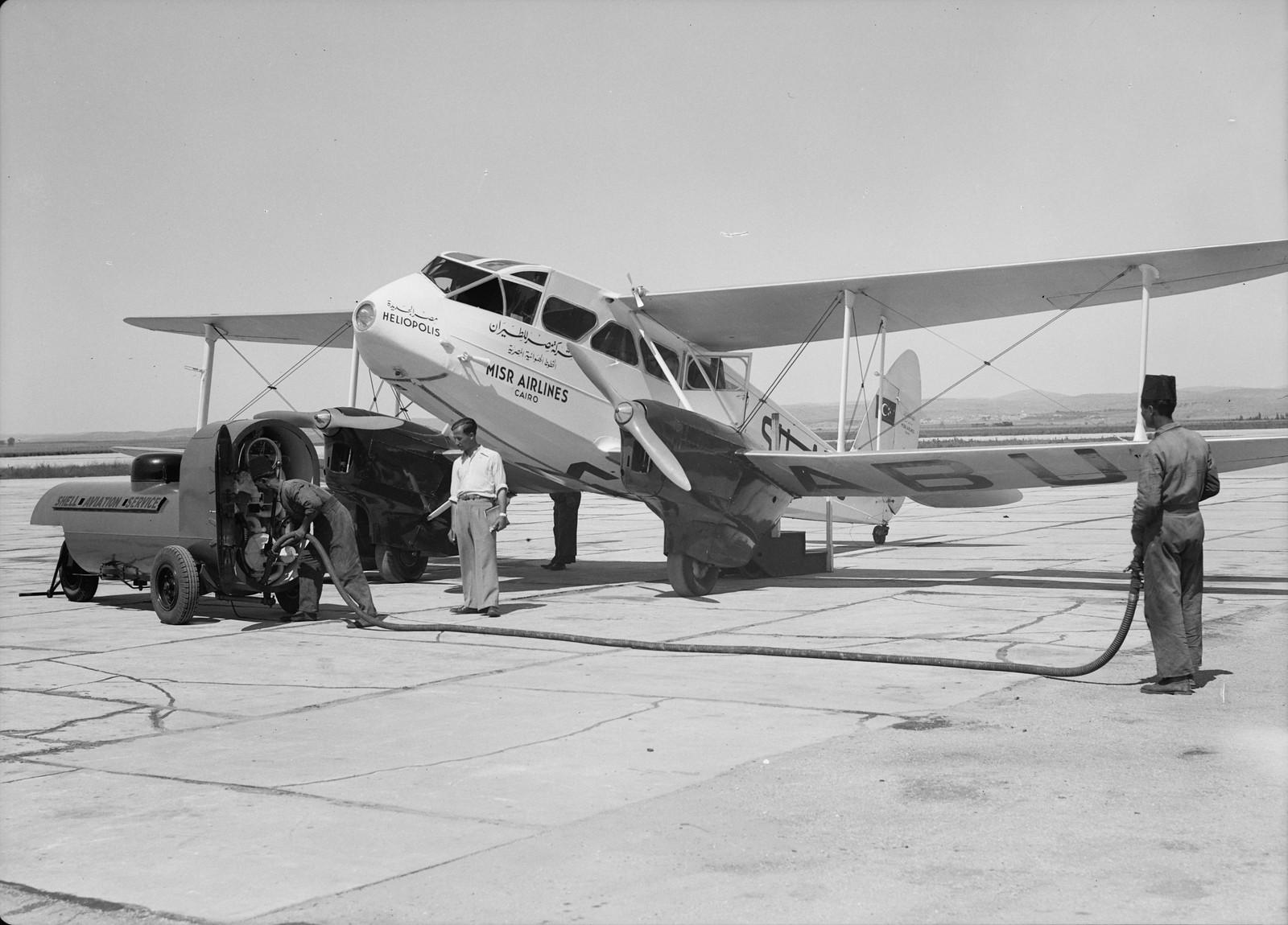 05. Дозаправка самолета египетской авиакомпнии «Misr Airwork»