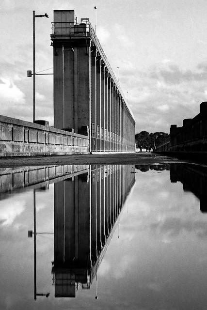 Mamiya C330 - Lake Hume Dam Wall Reflections