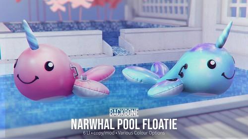 BackBone Narwhal Pool Floatie