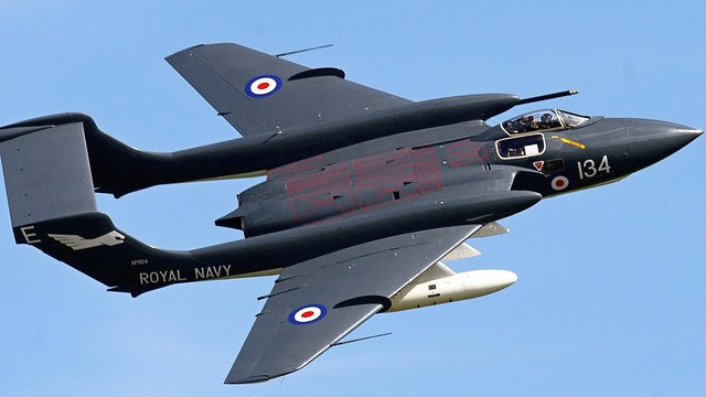 De Havilland DH110 Sea Vixen FAW2 Royal Navy Jet  XP924 G-CVIX