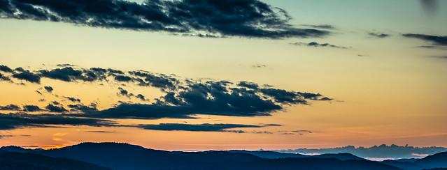 Midsummer sunset Oslo