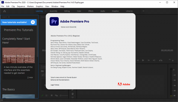 Working with Adobe Premiere Pro 2020 v14.3.0.38 full