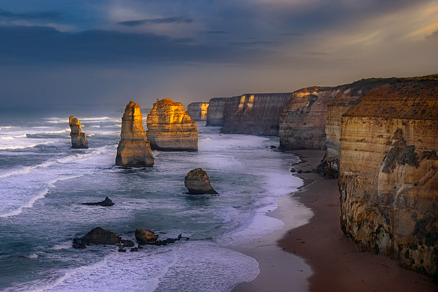 First light on the Apostles