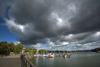 Stormy clouds over Preston Docks | by Tony Worrall