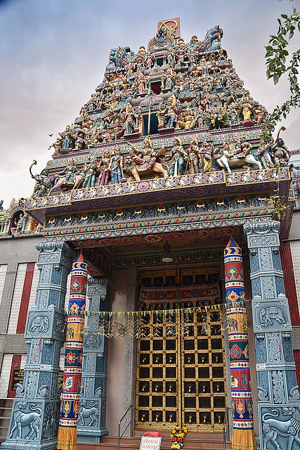 Hindu Temple at Little India, Singapore
