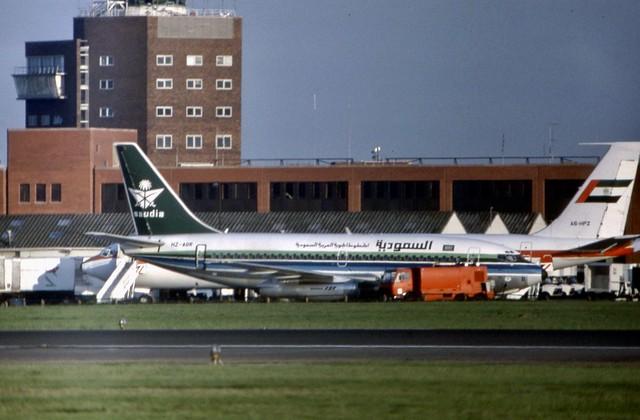 HZ-AGR Saudia Boeing 737-268 - a rare visitor to London Heathrow :)