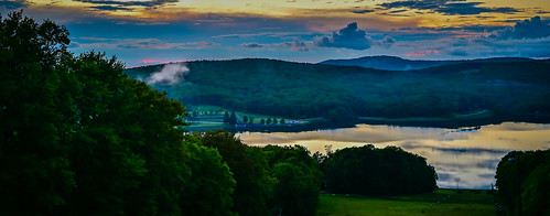 terraalta wv unitedstates sunset over alpine lake terra alta wva west virginia us usa hulls pond water dusk vista pano panorama panoramic landscape paysage trees tree forest woods