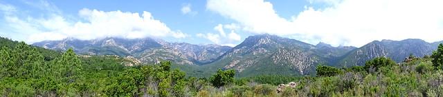 Panoramique fond de vallée depuis le col 400m