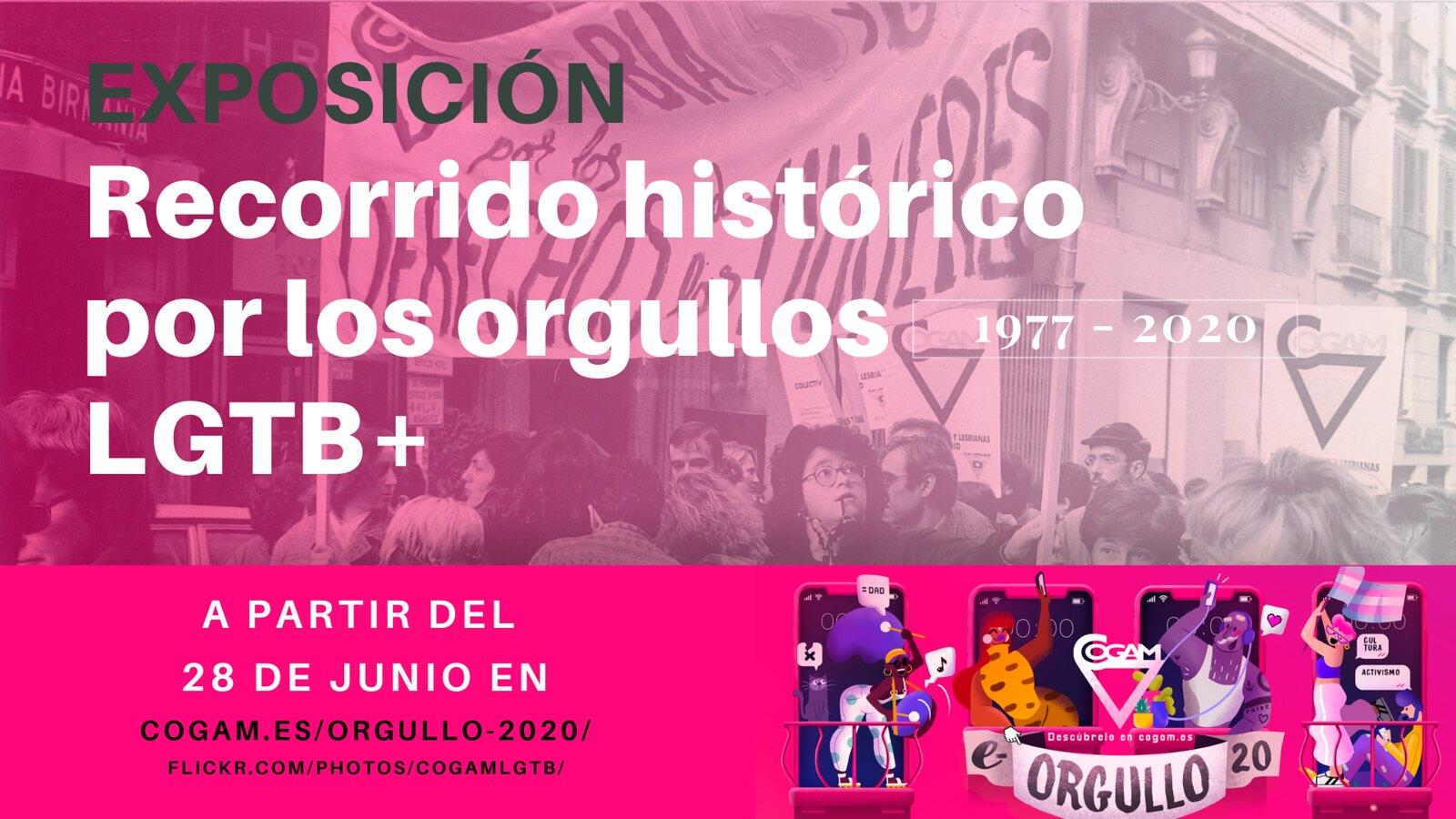 """Exposición """"Recorrido histórico por los Orgullos LGTB+"""""""