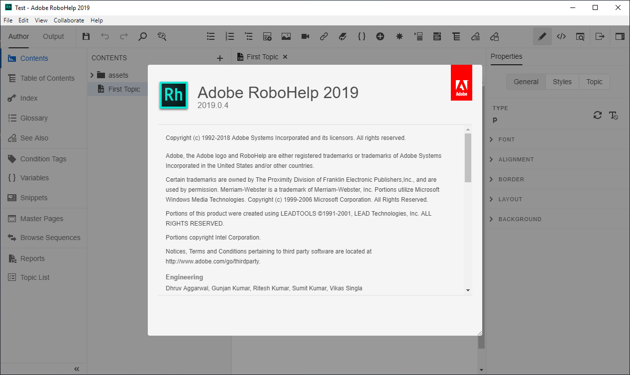 Working with Adobe RoboHelp 2019.0.14 full license