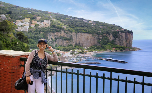 Kanitha discovering Vico on the Almafi Coast
