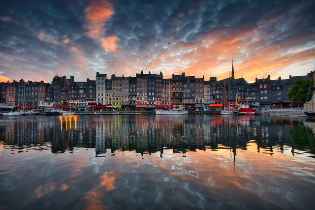 Sunset over Honfleur