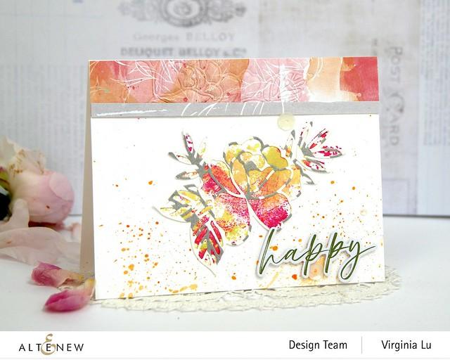 Altenew-SpringRoseDieSet-WatercolorFrameStampSet #1