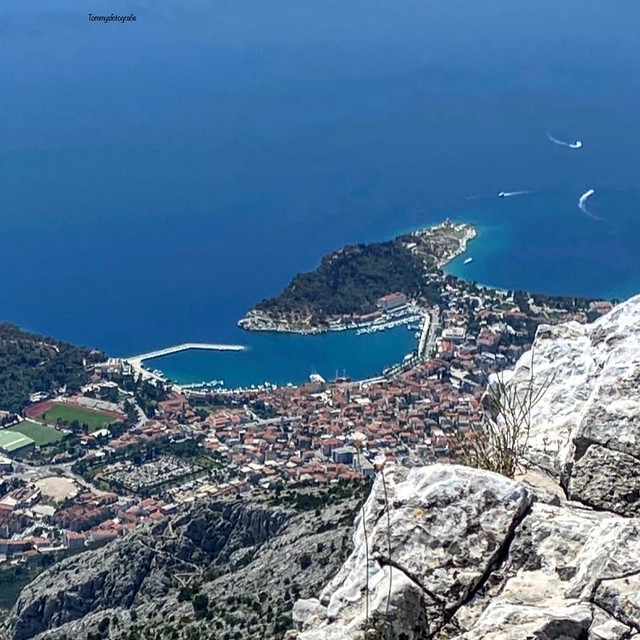 Makarska from up.