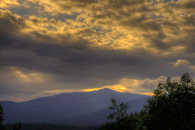 Sunset over Mt. Rachel